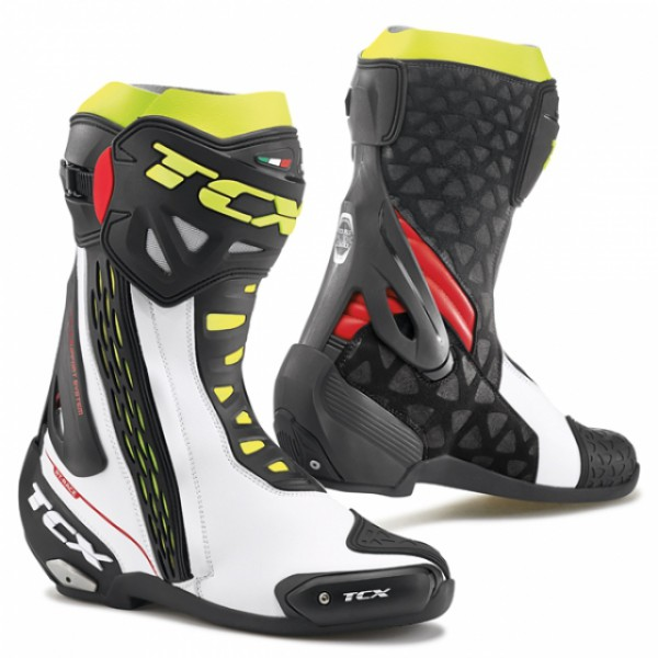 TCX Rt-Race White & Red & Yellow Fluo
