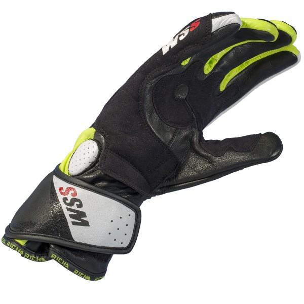 Richa Wss Glove Black & White & Yellow