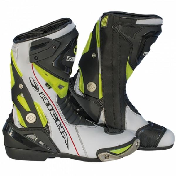 Richa Blade p Boot White & Black Fluo