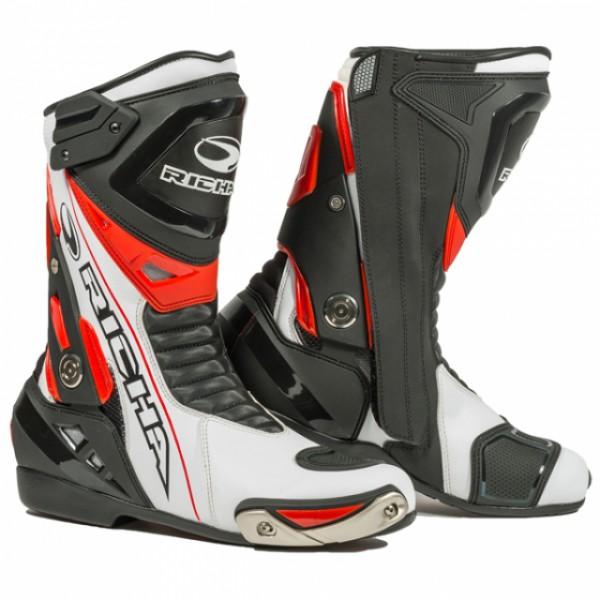 Richa Blade p Boot Black & White & Iridium