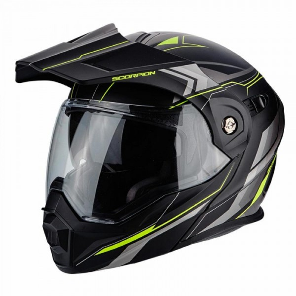 Scorpion Adx-1 Anima Matt Black & Yellow Helmet
