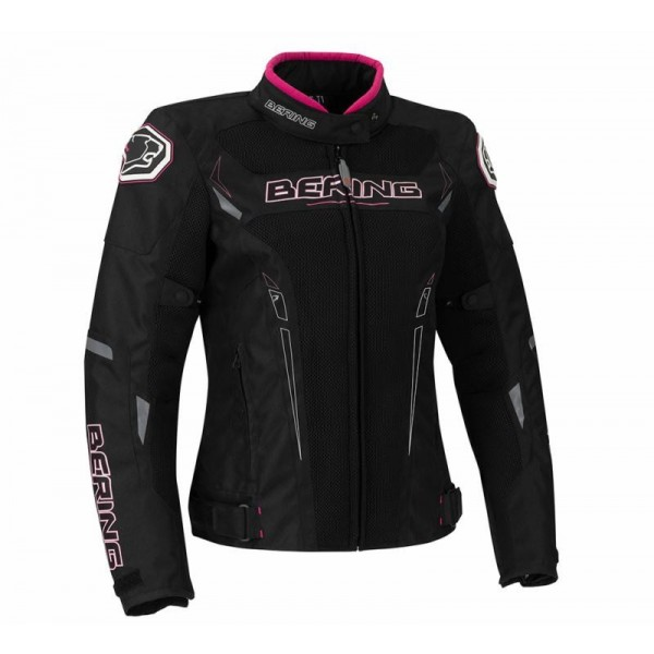 Lady Mistral Jacket Black & Fuschia
