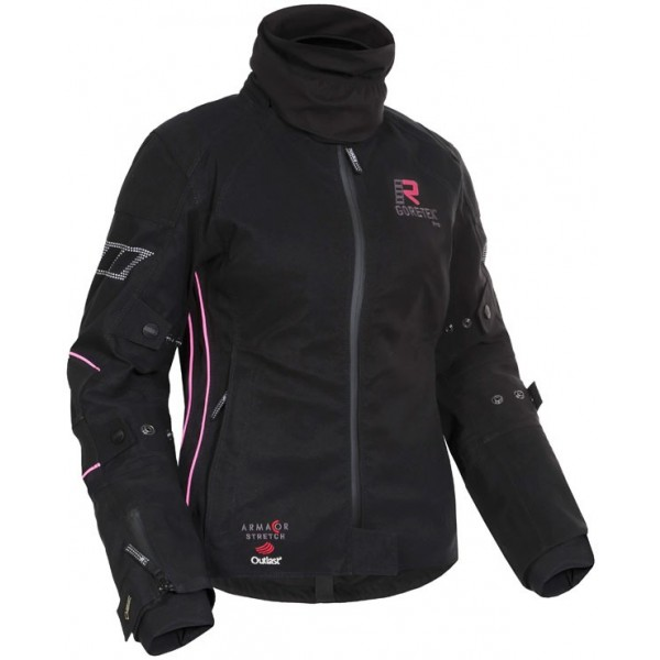 Suki Jacket Ladies Black & Pink