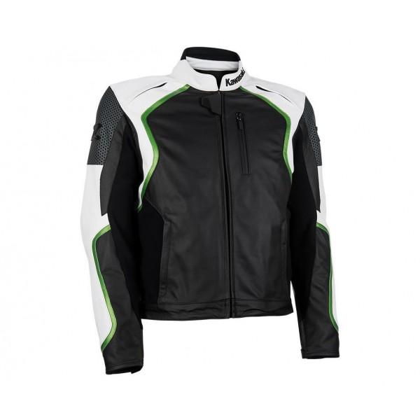 Kawasaki Z Leather Jacket White