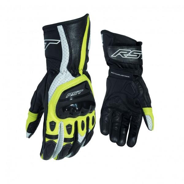RST R-18 Semi Sport Mens Glove Black & Fluo Yellow
