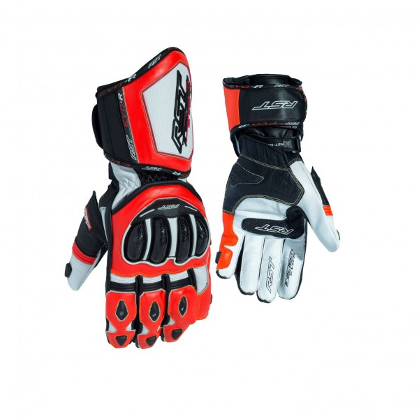 RST Tractech Evo R Mens Glove White & Black & Fluo Reduce