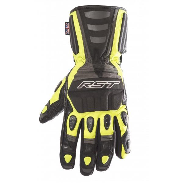 RST Storm Mens Waterproof Glove Black & Fluo Yellow