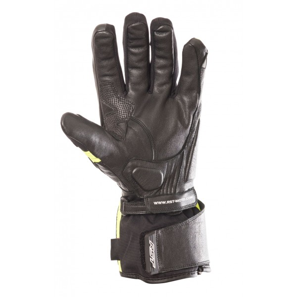 RST Storm Mens Waterproof Glove Black & Fluo Yellow