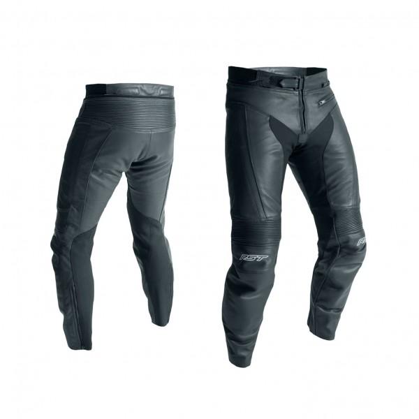 RST R-18 Short Leg Mens Leather Jean Black & Black