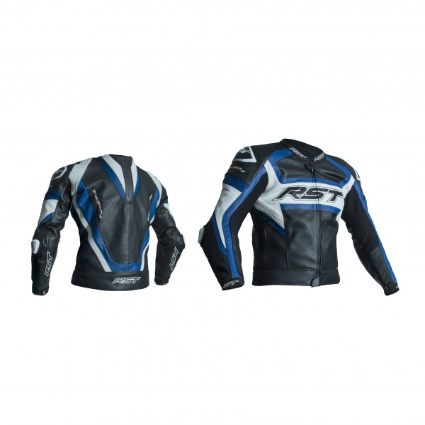 RST Tractech Evo R Mens Leather Jacket Black & Blue