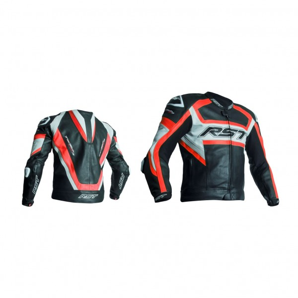 RST Tractech Evo R Mens Leather Jacket Black & Fluo Reduce