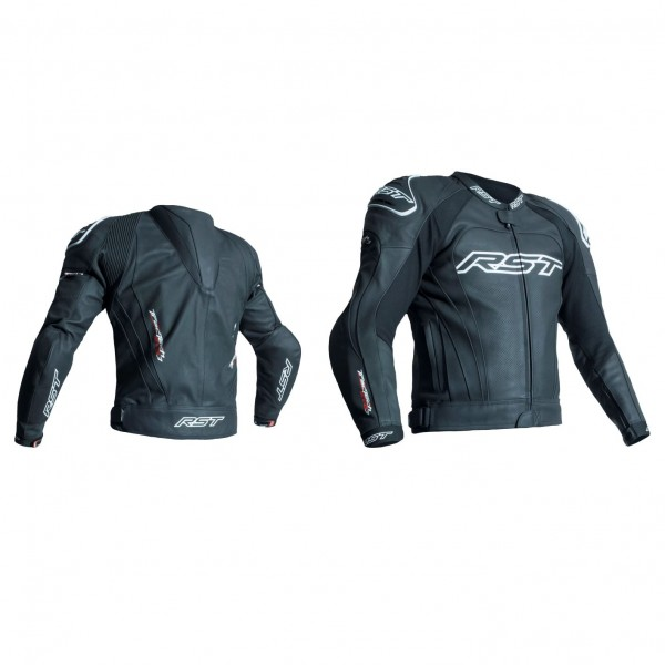 RST Tractech Evo Iii Mens Leather Jacket Black & Black