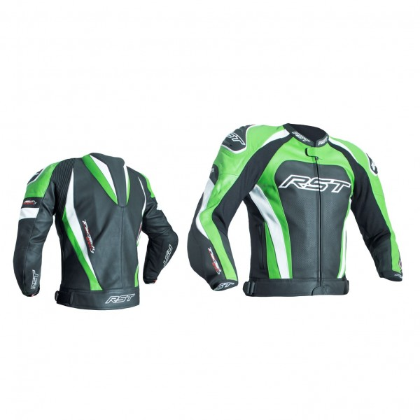 RST Tractech Evo 3 Mens Leather Jacket Black & Green