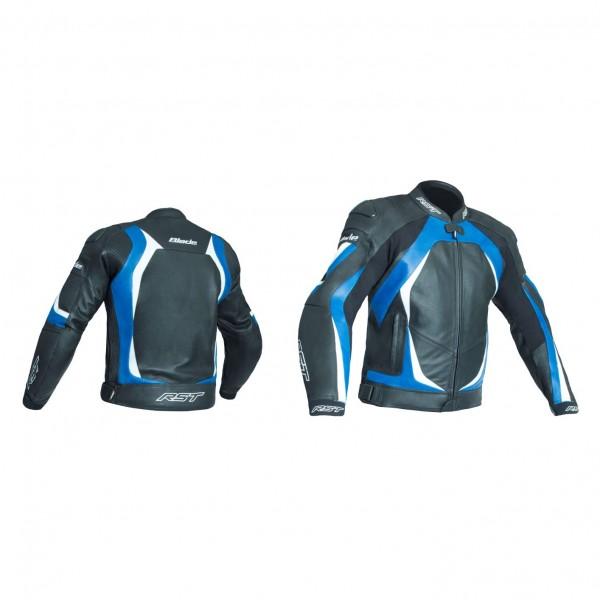RST Blade Ii Mens Leather Jacket Black & Blue