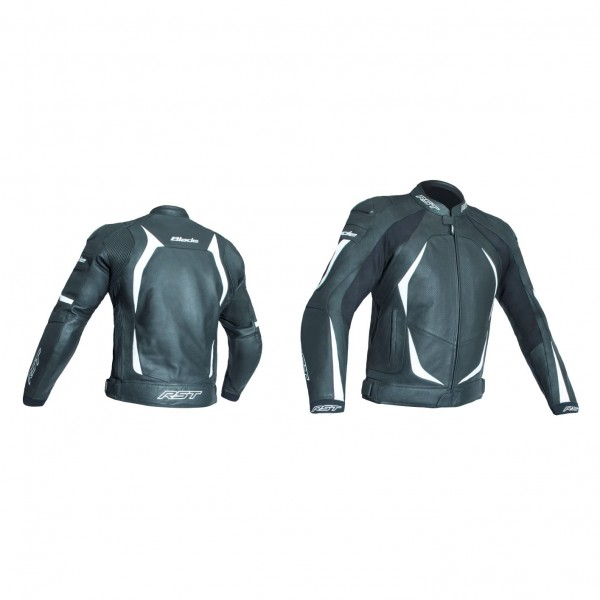 RST Blade Ii Mens Leather Jacket Black & White