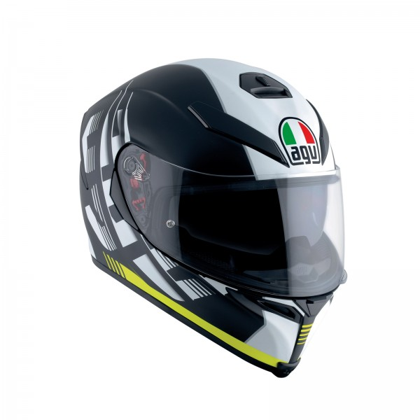 AGV K5-S Darkstorm Yellow