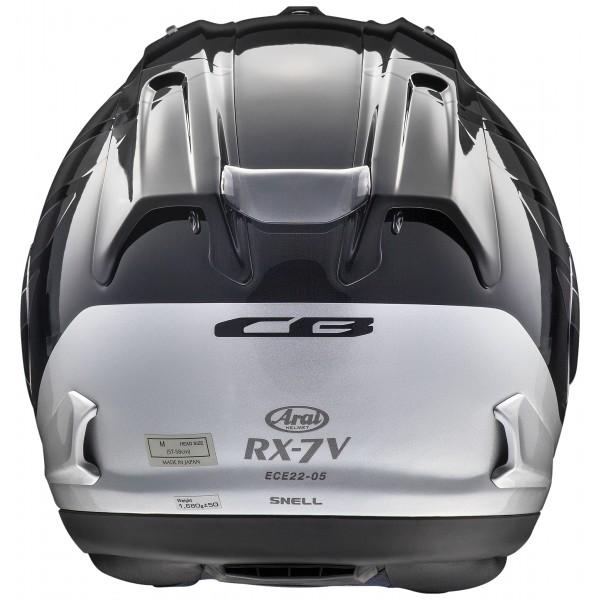ARAI Rx-7V Honda Cb Black & Silver