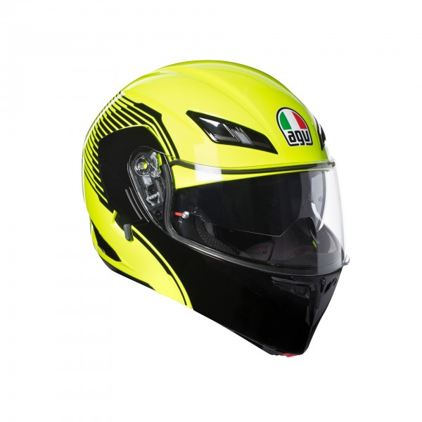 AGV Compact-St Vermont Flo Yellow & Black