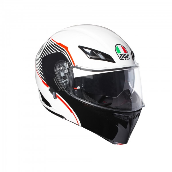 AGV Compact-St Vermont White & Black & Red
