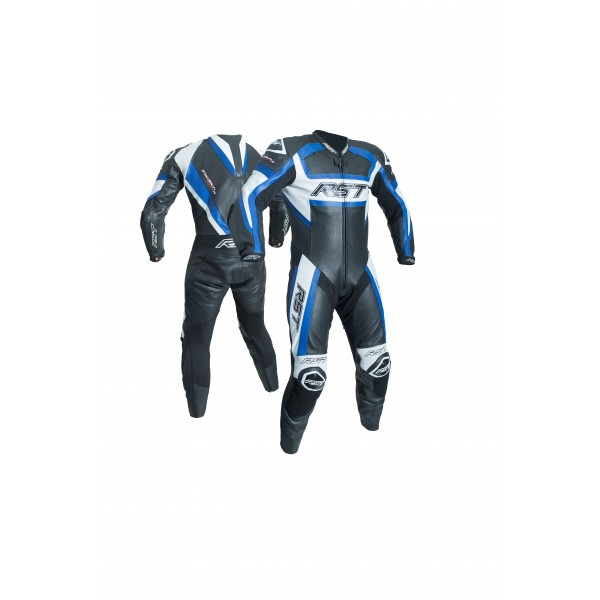 RST Tractech Evo R Mens Leather Suit Black & Blue