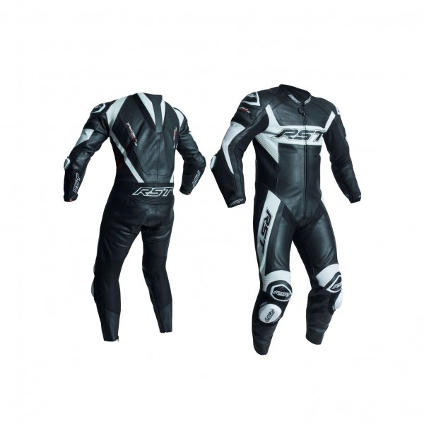 RST Tractech Evo R Mens Leather Suit Black & White