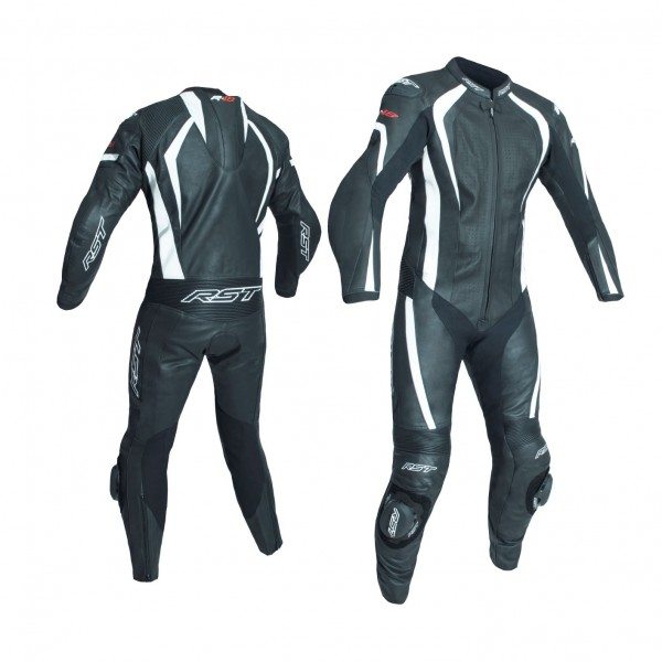 RST R-18 Mens Leather Suit Black & White