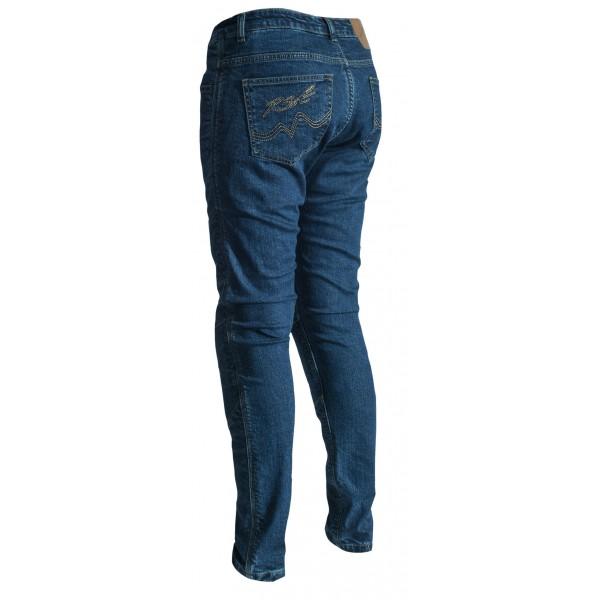 RST Aramid Straight Leg Ladies Textile Jean Dark Blue