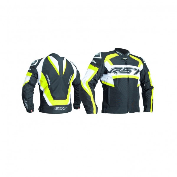 RST Tractech Evo R Mens Textile Jacket Black & Fluo Yellow