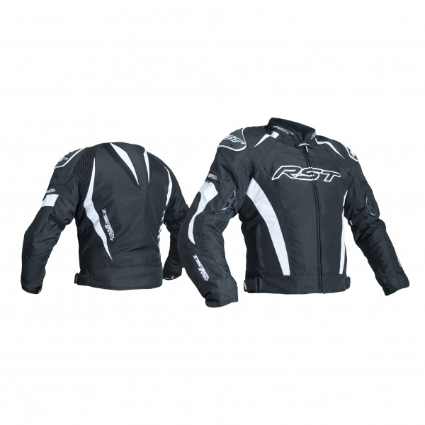 RST Tractech Evo Iii Mens Textile Jacket Black & White