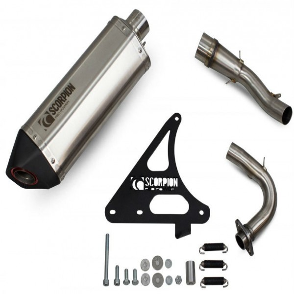 Scorpion Royal Alloy GP125 AC Exhaust Stainless
