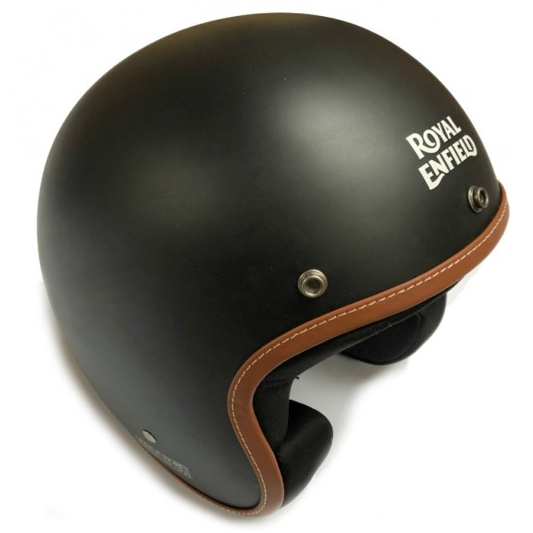 Royal Enfield Leather Edge Open Face Helmet Matt Black