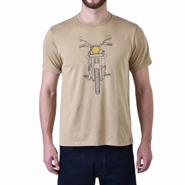 Royal Enfield Illustrurated RE Classic Graphic T Shirt Khaki