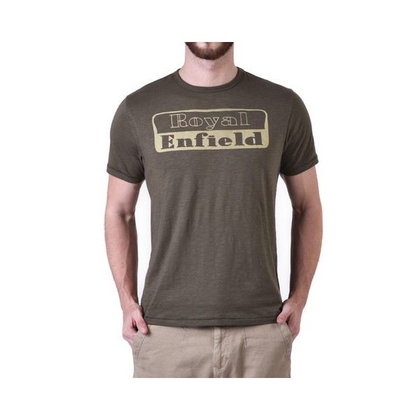 Royal Enfield 1948 RE Logo T Shirt Olive