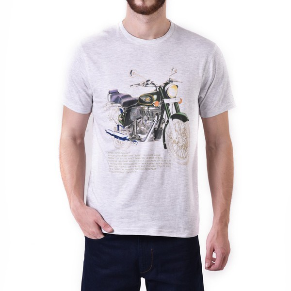 Royal Enfield Bullet 500 Graphic T Shirt White