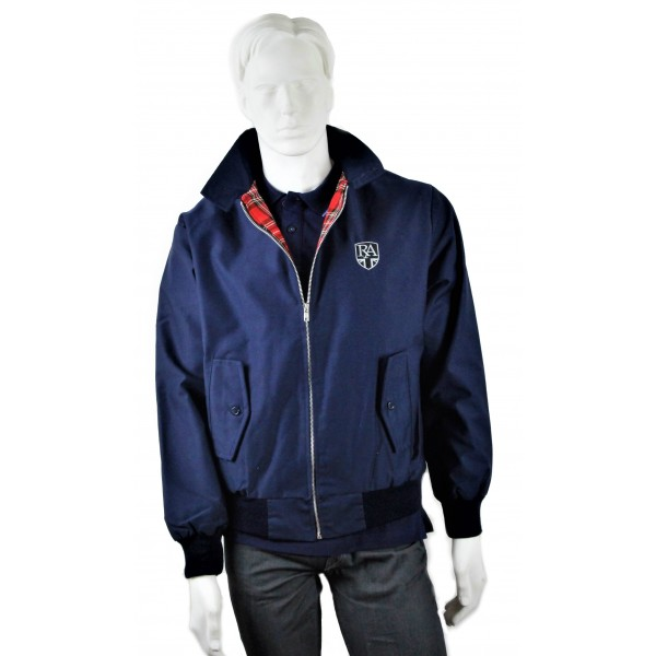Royal Alloy Harrington Jacket Blue