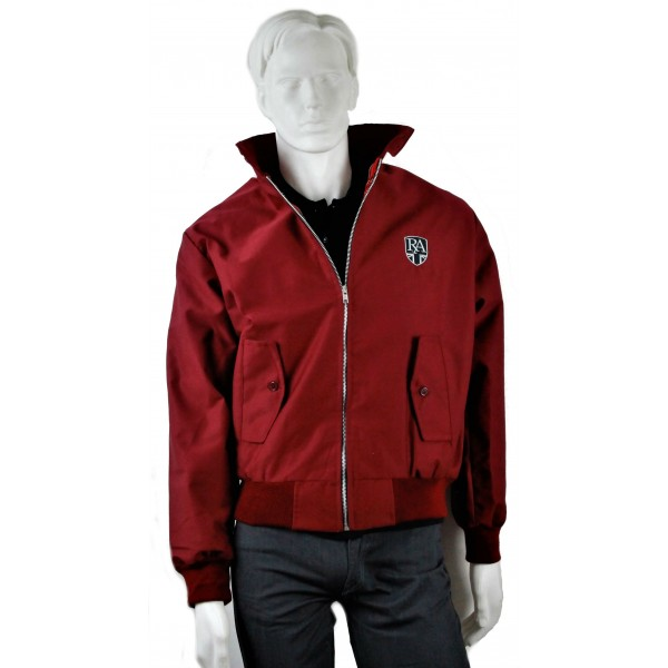Royal Alloy Harrington Jacket Burgundy