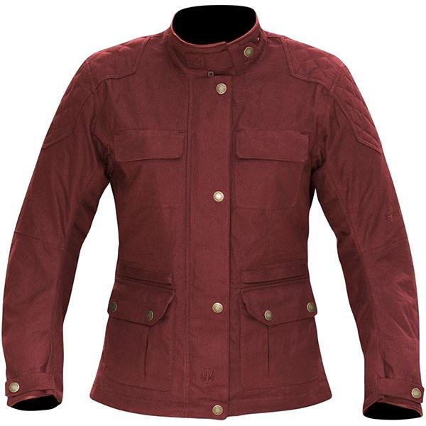 Merlin Ladies Buxton Wax Textile Jacket - Red