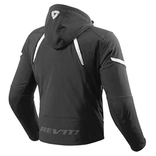 Rev'it Burn Textile Jacket - Black / White
