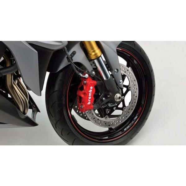 Suzuki GSX-S1000Z Wheel Decal Outer (Per Wheel) Solid Red