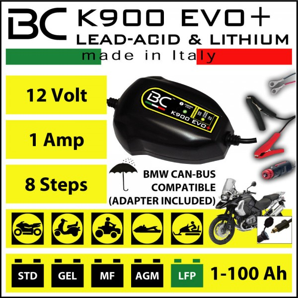 BC K900 EVO+ LEAD-ACID/LITHIUM/CAN-BUS
