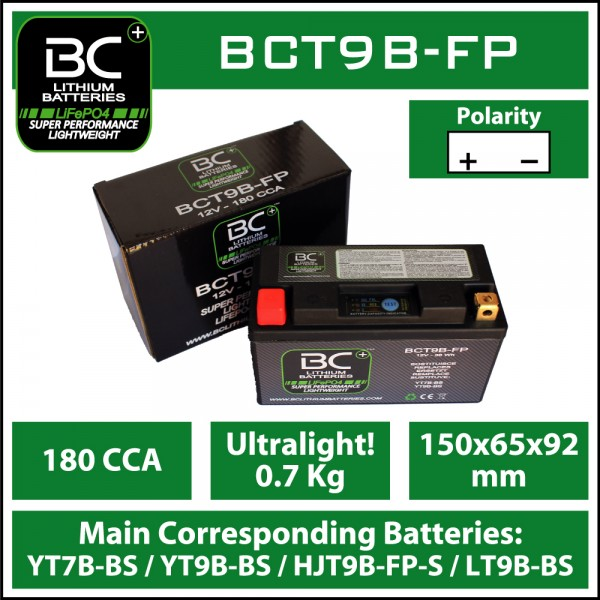 LITHIUM BATTERY LiFePO4 BCT9B-FP