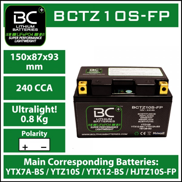 LITHIUM BATTERY LiFePO4 BCTZ10S-FP