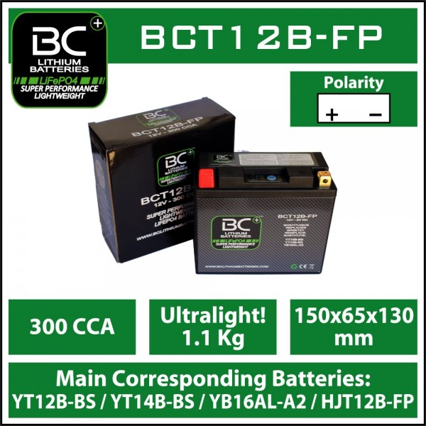 LITHIUM BATTERY LIFEPO4 BCT12B-FP 5AH