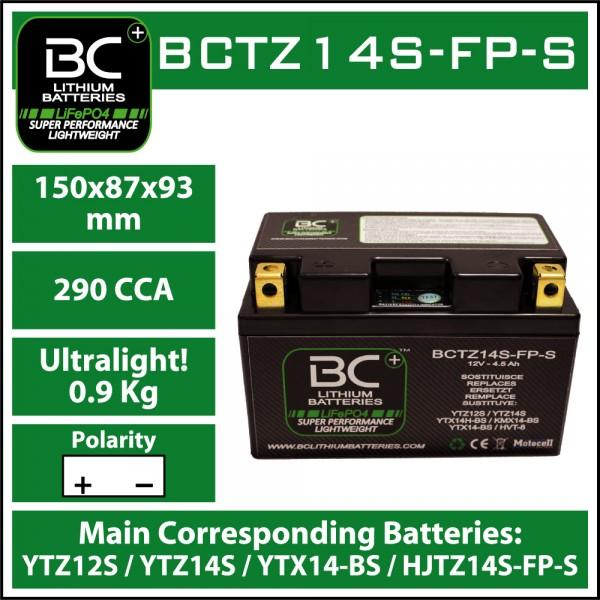LITHIUM BATTERY LIFEPO4 BCTZ14S-FP-S