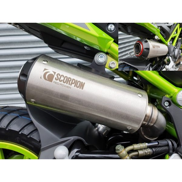 Benelli TNT 125 Scorpion Stainless Exhaust Can With Link Pipe With FREE R&G Tail Tidy