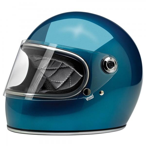 BILTWELL GRINGO S HELMET - GLOSS PACIFIC BLUE