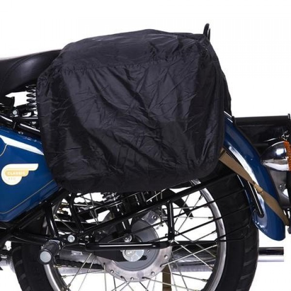 Royal Enfield Waxed Canvas Throw Over Panniers Black