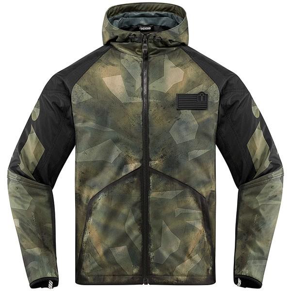 Icon Merc Battlescar Textile Jacket - Military Green / Black