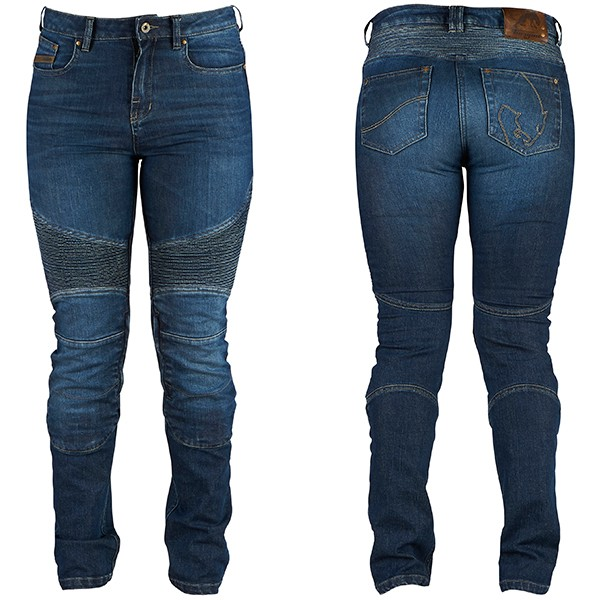 Furygan Purdey Ladies Motorcycle Jeans - Blue