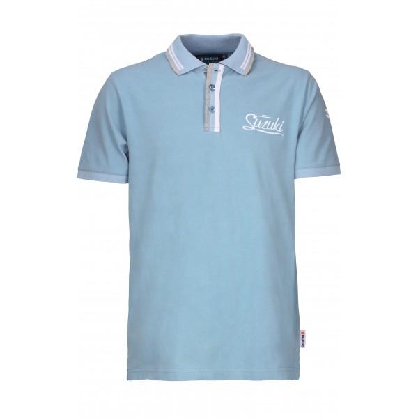 Suzuki Men's Light Blue Polo Shirt